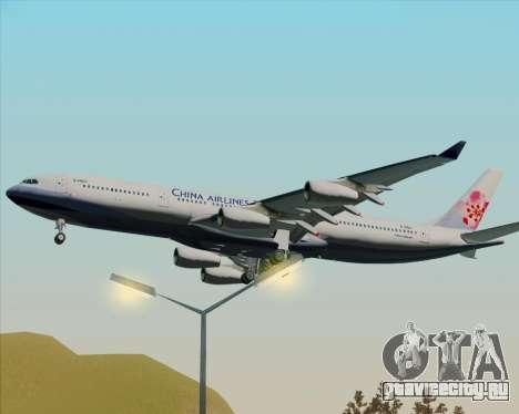 Airbus A340-313 China Airlines для GTA San Andreas вид сзади