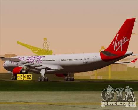 Airbus A330-300 Virgin Atlantic Airways для GTA San Andreas вид справа