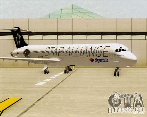 McDonnell Douglas MD-82 Spanair для GTA San Andreas вид слева