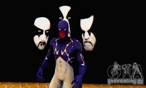 Skin The Amazing Spider Man 2 - Suit Cosmic для GTA San Andreas пятый скриншот
