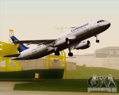 Airbus A320-211 Lufthansa для GTA San Andreas вид снизу