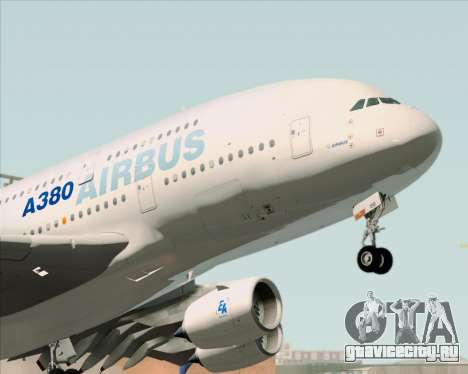 Airbus A380-861 для GTA San Andreas вид сзади