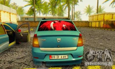 Dacia Logan 1.6 MPI Tuning для GTA San Andreas вид справа
