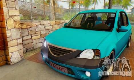 Dacia Logan Elegant для GTA San Andreas вид слева