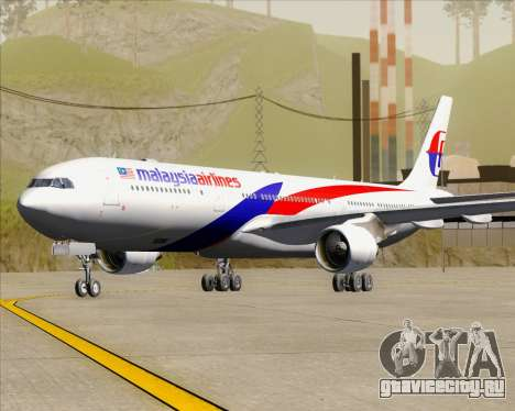 Airbus A330-323 Malaysia Airlines для GTA San Andreas вид слева