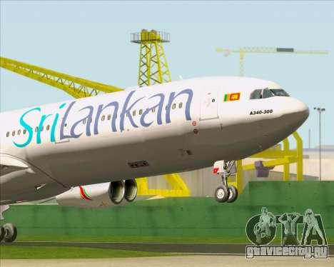 Airbus A340-313 SriLankan Airlines для GTA San Andreas салон
