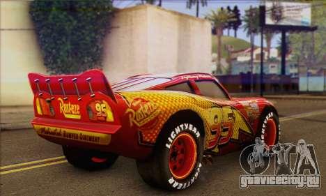 Lightning McQueen для GTA San Andreas вид слева