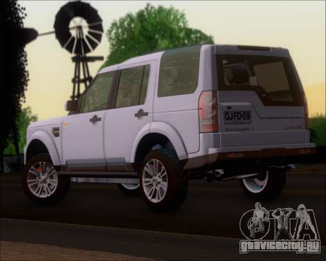 Land Rover Discovery 4 для GTA San Andreas вид слева