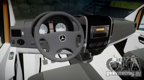 Mercedes-Benz Sprinter 313 cdi для GTA 4 вид сзади