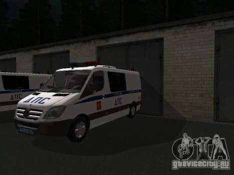 Mercedes-Benz Sprinter ДПС для GTA San Andreas