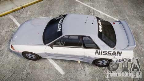 Nissan Skyline GTR R32 для GTA 4 вид справа