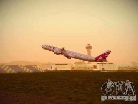 Airbus A340-600 Qatar Airways для GTA San Andreas салон