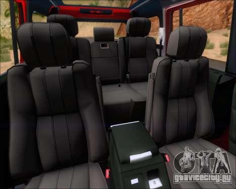 Land Rover Discovery 4 для GTA San Andreas двигатель