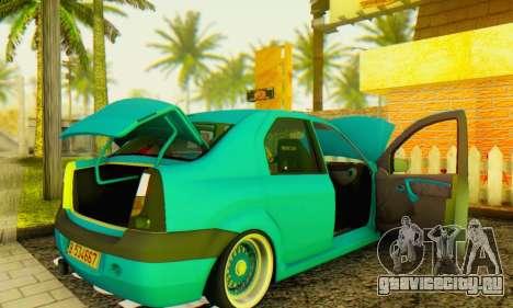 Dacia Logan Elegant для GTA San Andreas вид справа