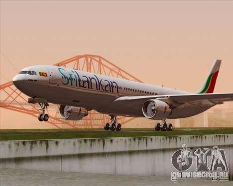 Airbus A330-300 SriLankan Airlines для GTA San Andreas вид сзади слева