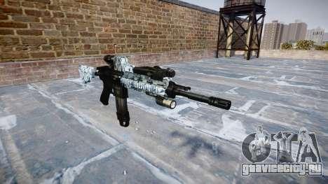 Автоматический карабин Colt M4A1 skulls для GTA 4