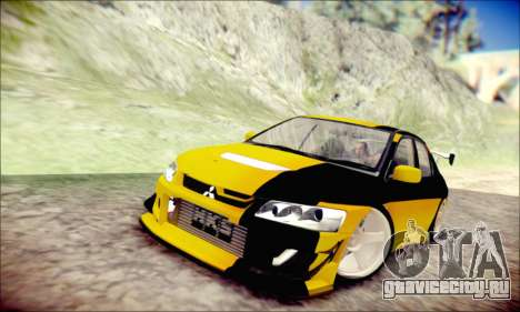 Mitsubishi Lancer Turkis Drift для GTA San Andreas вид слева