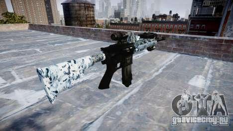 Автоматический карабин Colt M4A1 skulls для GTA 4 второй скриншот