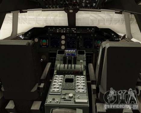 Boeing 747-8 Cargo Cargolux для GTA San Andreas салон