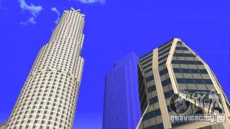 HD текстуры четырех небоcкребов в Лос Сантос для GTA San Andreas