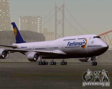 Boeing 747-830 Lufthansa - Fanhansa для GTA San Andreas вид слева