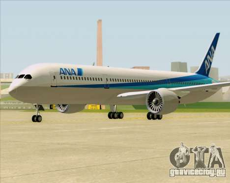 Boeing 787-9 All Nippon Airways для GTA San Andreas вид слева