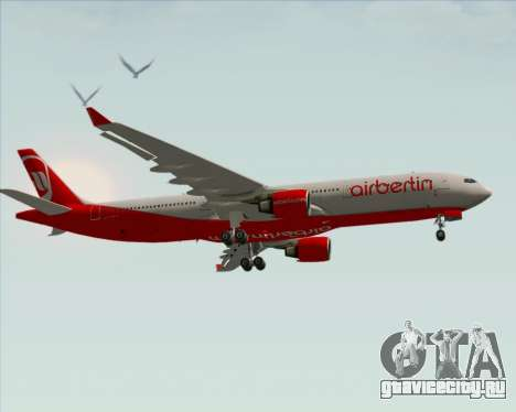 Airbus A330-300 Air Berlin для GTA San Andreas вид изнутри