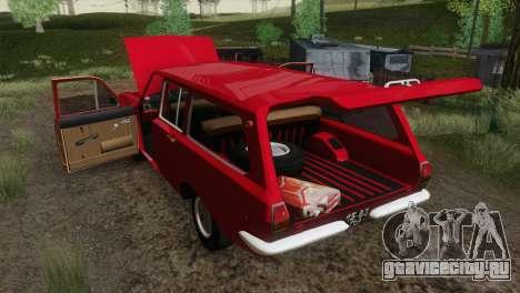 ГАЗ 24-02 для GTA San Andreas вид изнутри