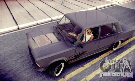 Fiat 125P Shark для GTA San Andreas вид сзади