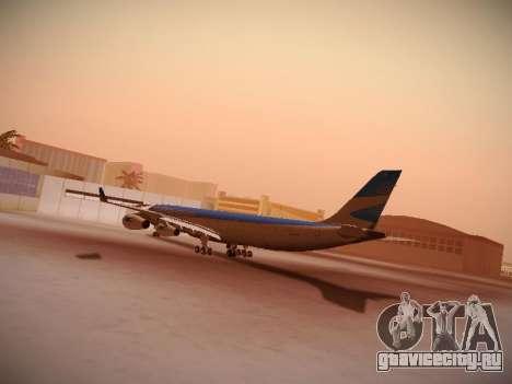 Airbus A340-300 Aerolíneas Argentinas для GTA San Andreas вид сзади