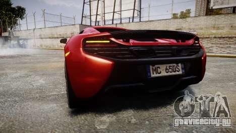 McLaren 650S Spider 2014 [EPM] Michelin v2 для GTA 4 вид сзади слева