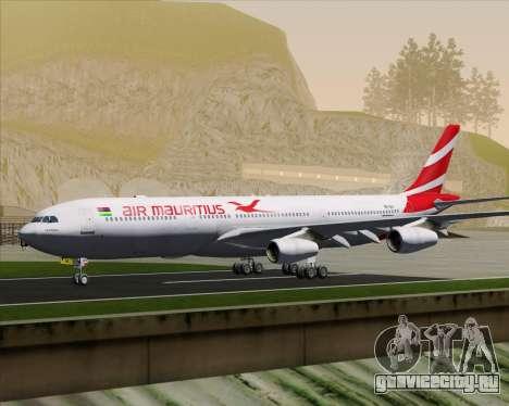 Airbus A340-312 Air Mauritius для GTA San Andreas вид снизу