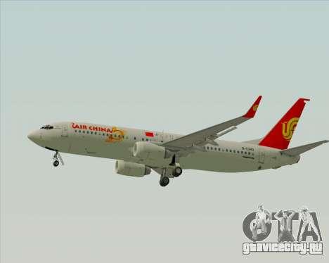 Boeing 737-89L Air China для GTA San Andreas вид сзади слева