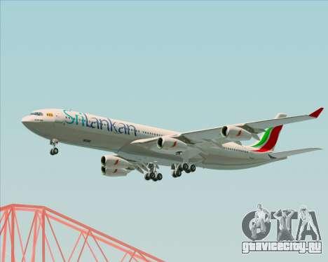 Airbus A340-313 SriLankan Airlines для GTA San Andreas вид сбоку