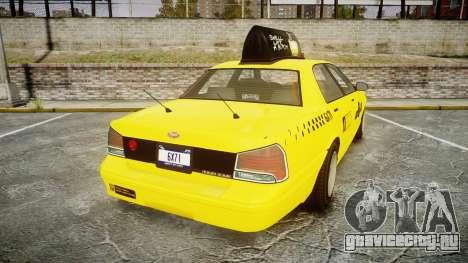 GTA V Vapid Taxi LCC для GTA 4 вид сзади слева