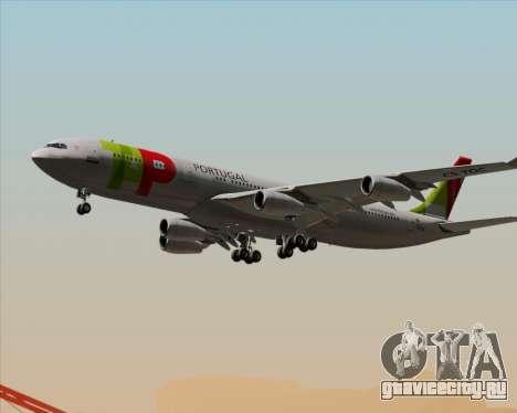 Airbus A340-312 TAP Portugal для GTA San Andreas вид снизу