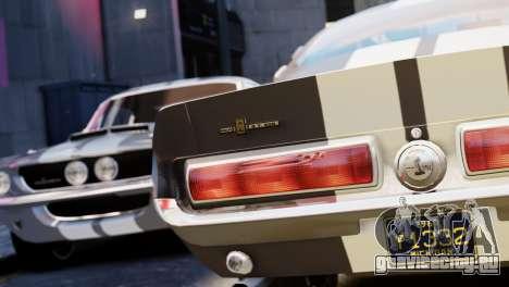 Shelby Cobra GT500 1967 для GTA 4 вид изнутри