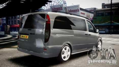 Mercedes-Benz Vito Sport-X для GTA 4 вид слева