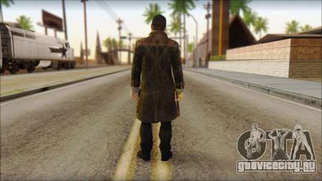 Aiden Pearce from Watch Dogs для GTA San Andreas второй скриншот