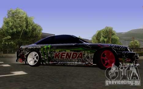 Nissan Silvia S14 Monster Energy для GTA San Andreas вид сзади слева