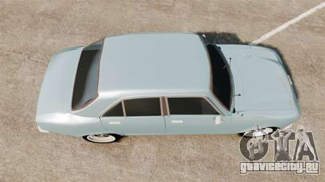 Peugeot 504 для GTA 4 вид справа