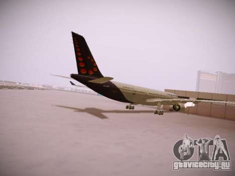 Airbus A330-300 Brussels Airlines для GTA San Andreas вид справа