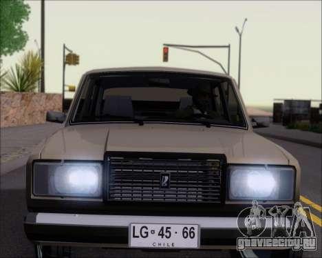 LADA 2107 для GTA San Andreas колёса