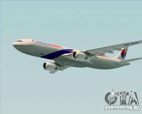 Airbus A330-323 Malaysia Airlines для GTA San Andreas вид снизу