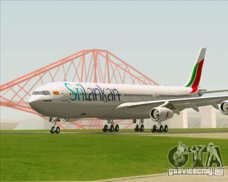 Airbus A340-313 SriLankan Airlines для GTA San Andreas вид слева