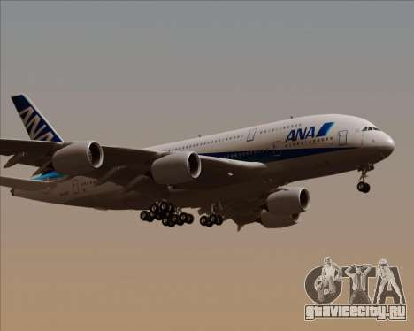 Airbus A380-800 All Nippon Airways (ANA) для GTA San Andreas вид справа