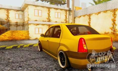 Dacia Logan MOR для GTA San Andreas вид сзади