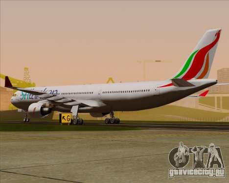 Airbus A330-300 SriLankan Airlines для GTA San Andreas вид справа