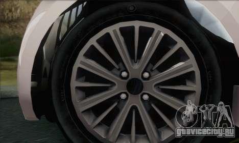 Aston Martin Cygnet для GTA San Andreas вид сзади слева