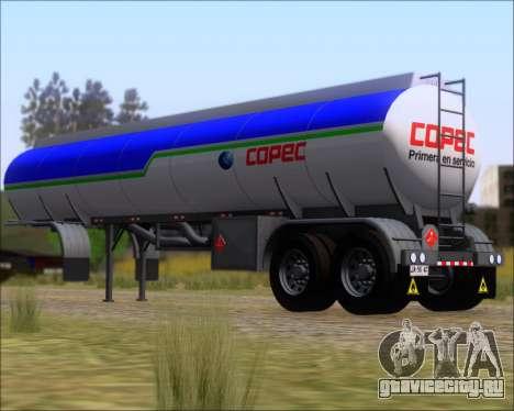 Прицеп цистерна Carro Copec для GTA San Andreas вид сзади слева